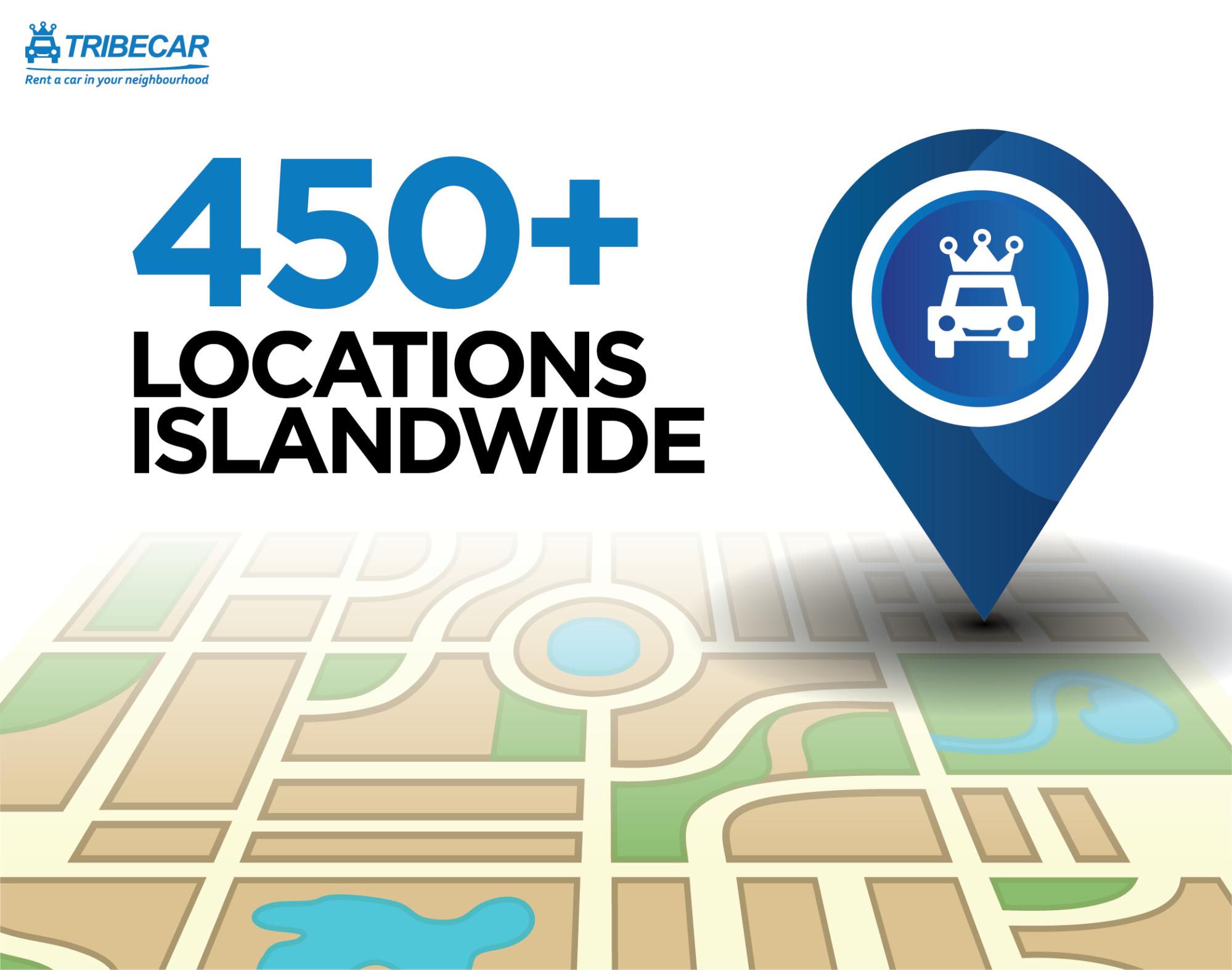tribecar locations islandwide