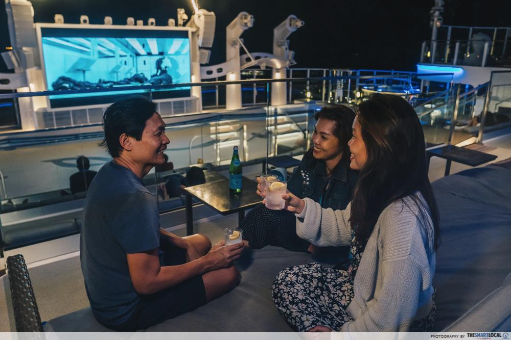 world dream cruise - outdoor movie at zouk beach club