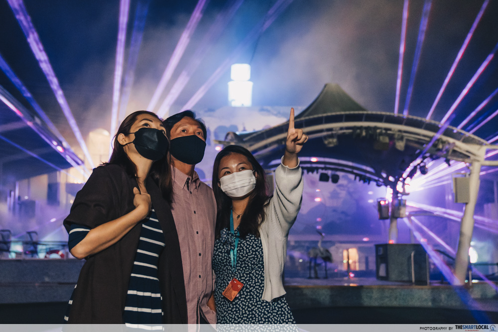 world dream cruise - laser show