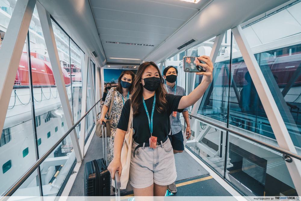 boarding the cruise
