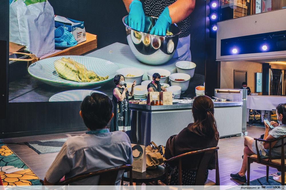 korean cooking demonstration