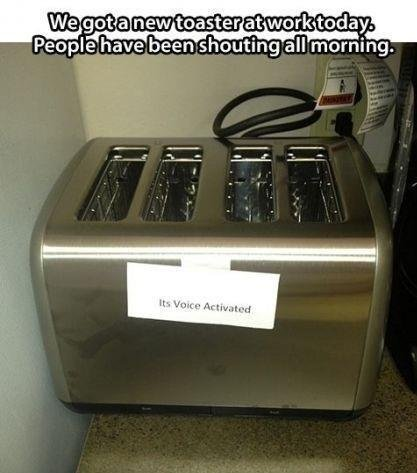 """""""Voice-activated"""" appliances in office"""