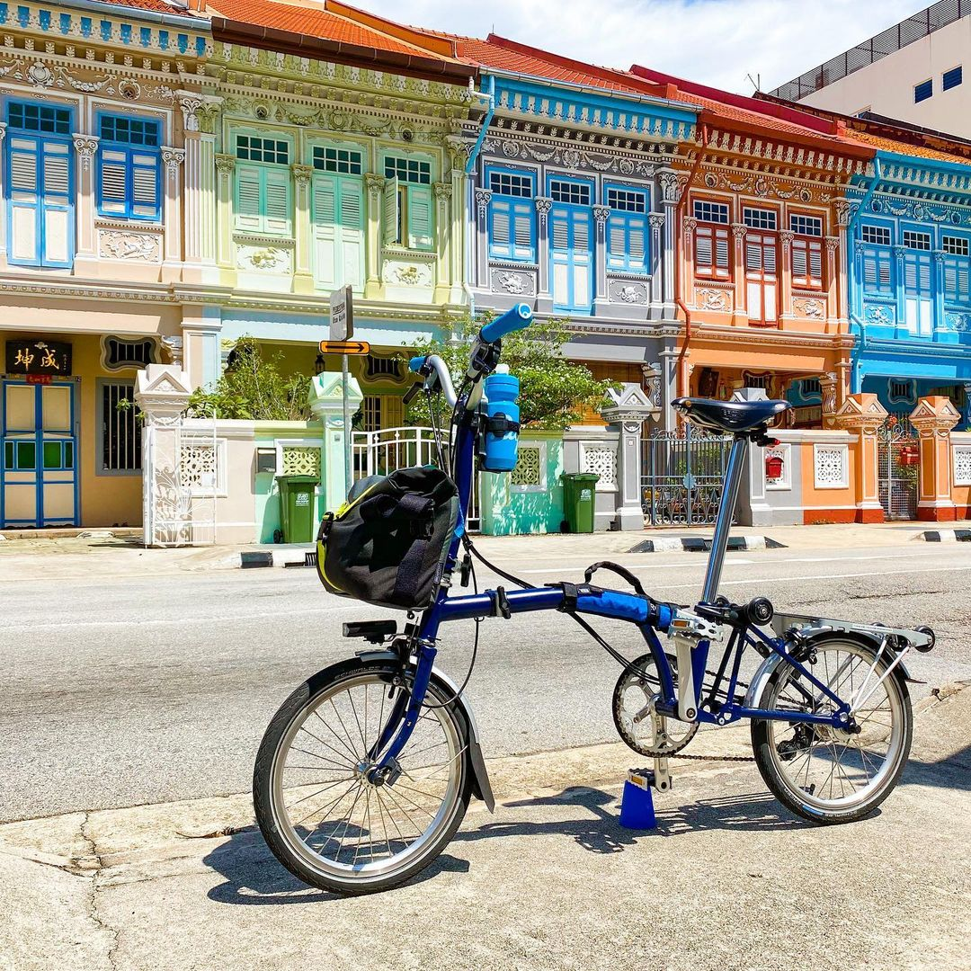 bromton M6L bicycle - best foldable bicycles in singapore