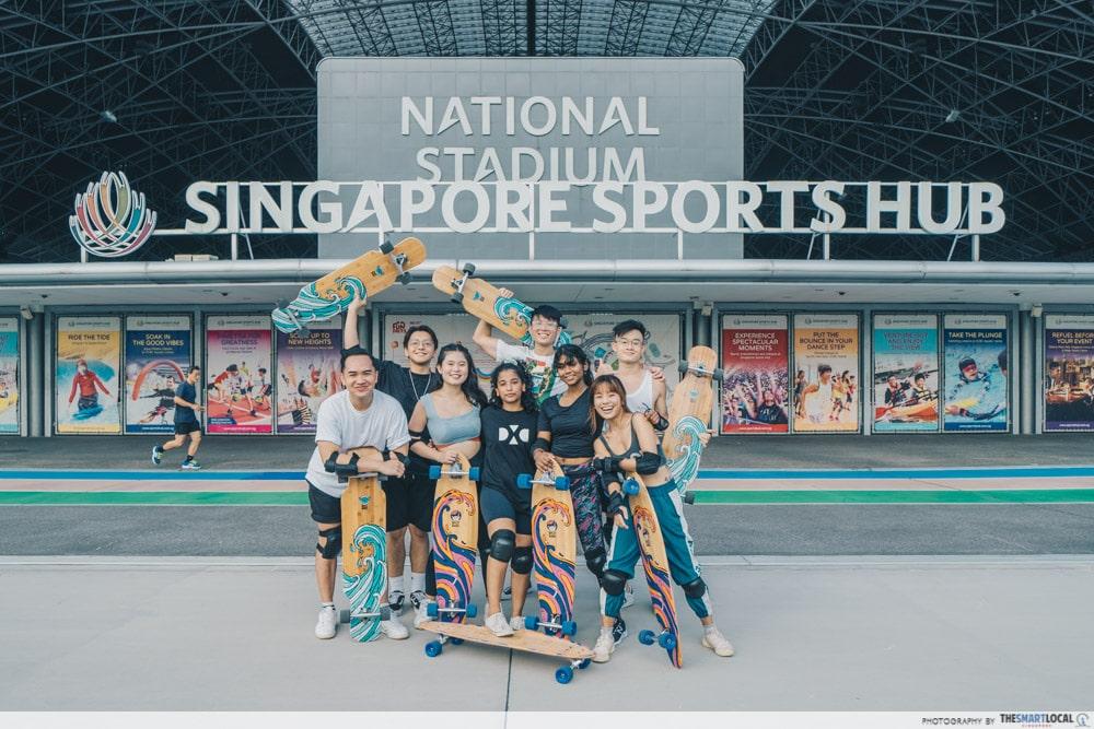 Longboarding Singapore Sports Hub
