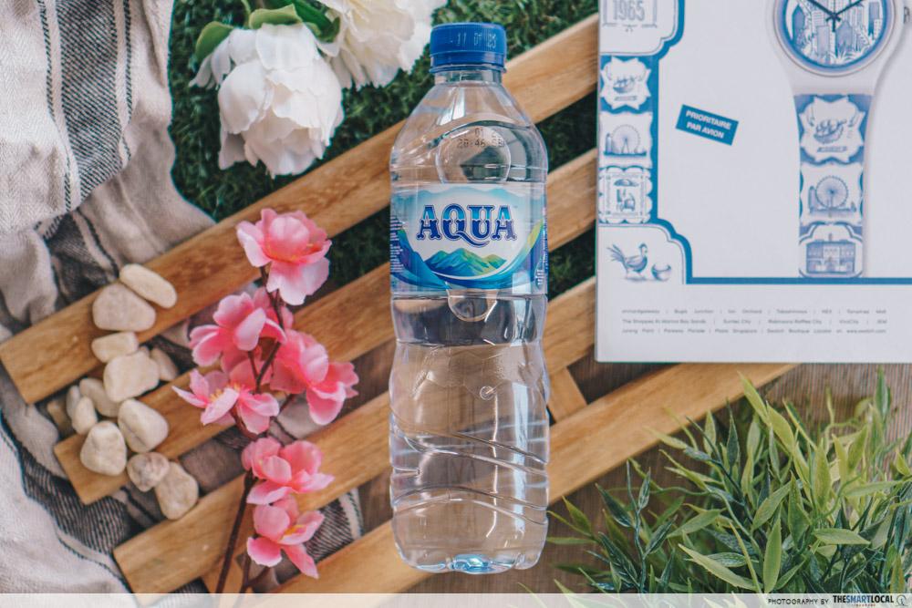 Aqua bottled water