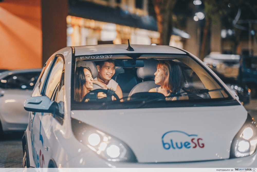 BlueSg electric car sharing