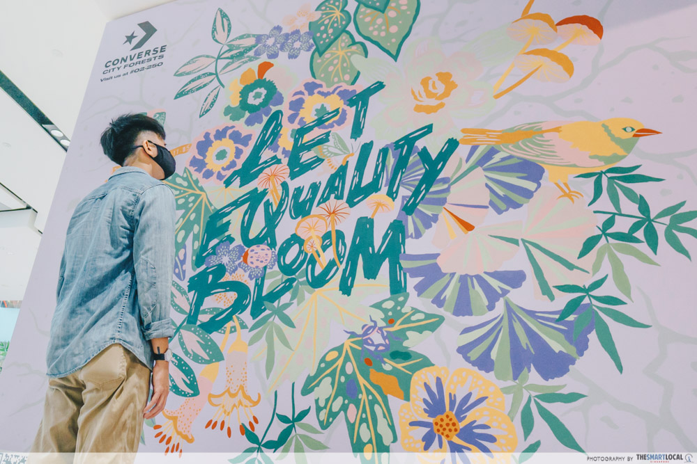 Converse-Jewel-Changi - let equality bloom mural