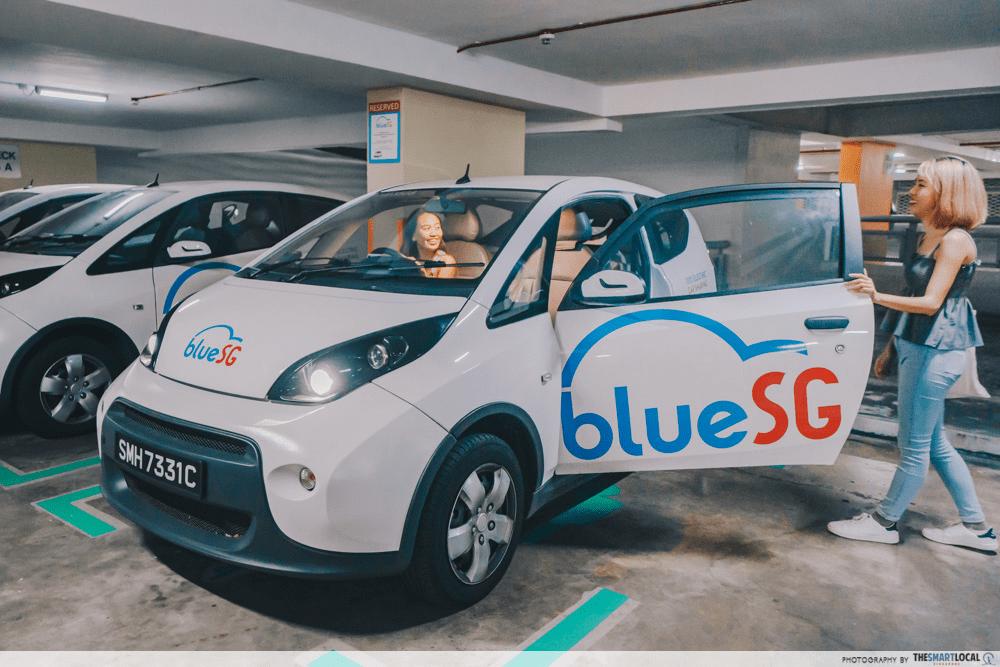 Electric car charging BlueSG