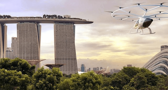 future predictions - Flying helicopter taxis