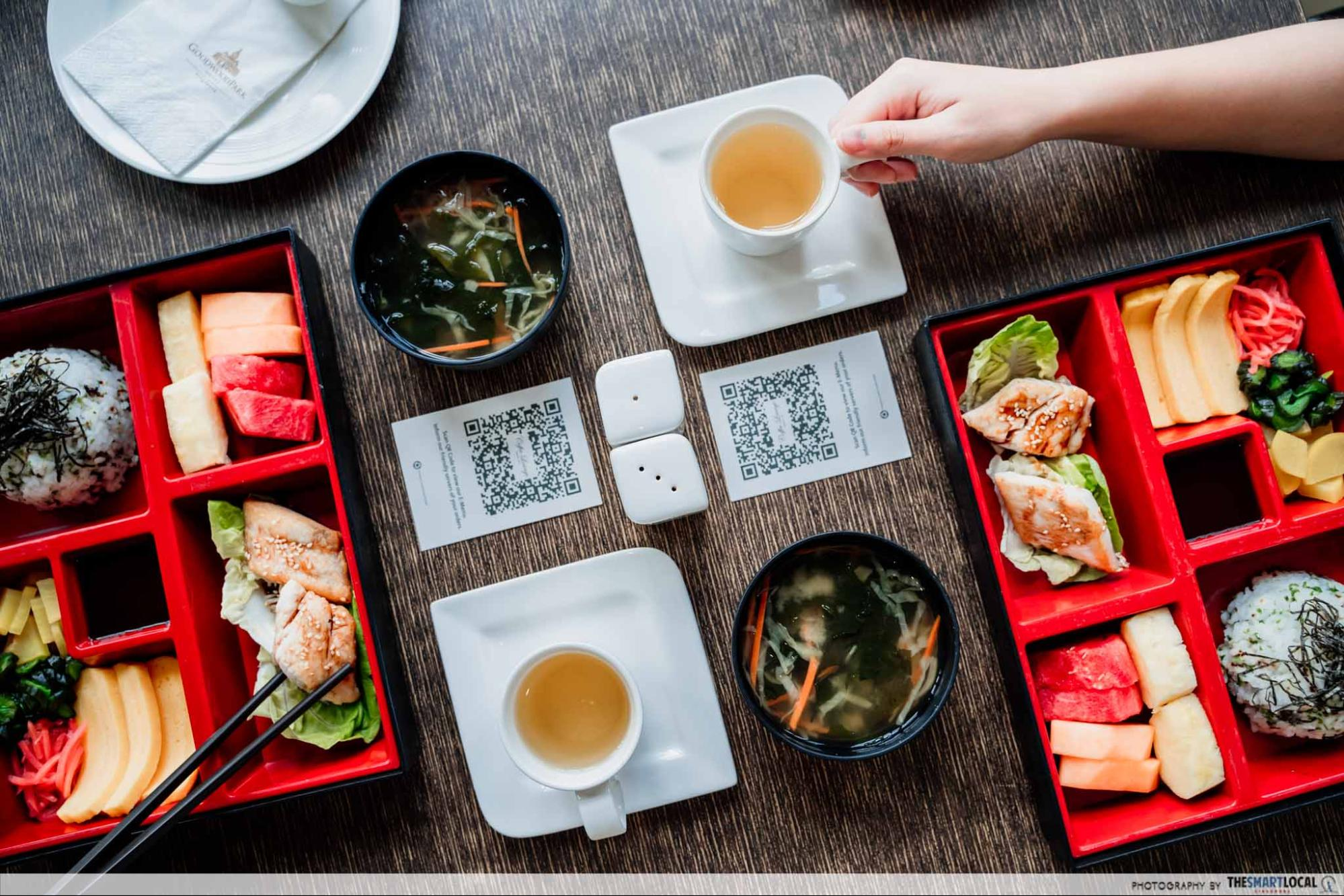 Coffee Lounge Japanese Bento Complimentary Breakfast