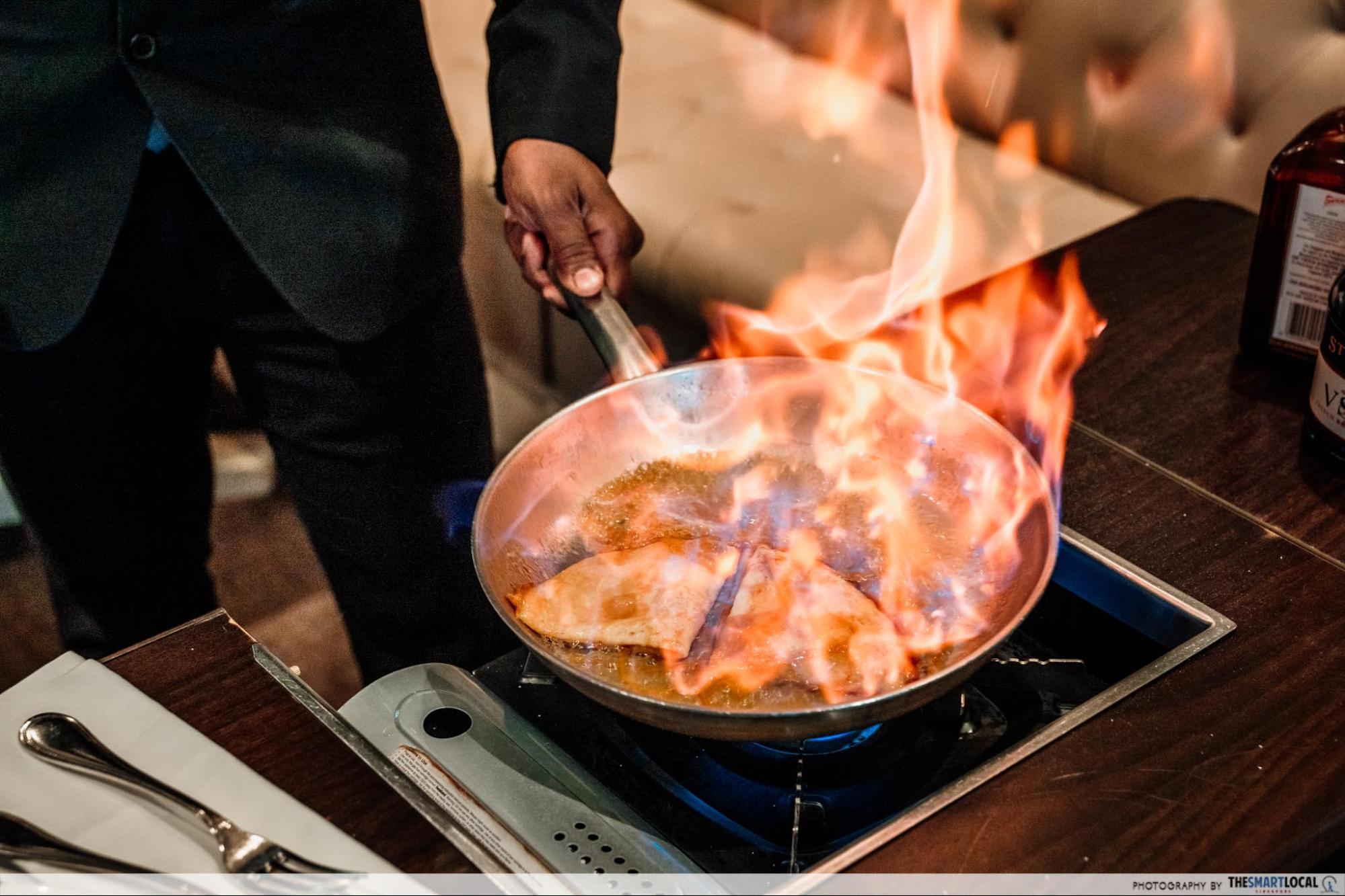 Gordon Grill crepe suzette