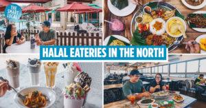Halal cafes restaurants north