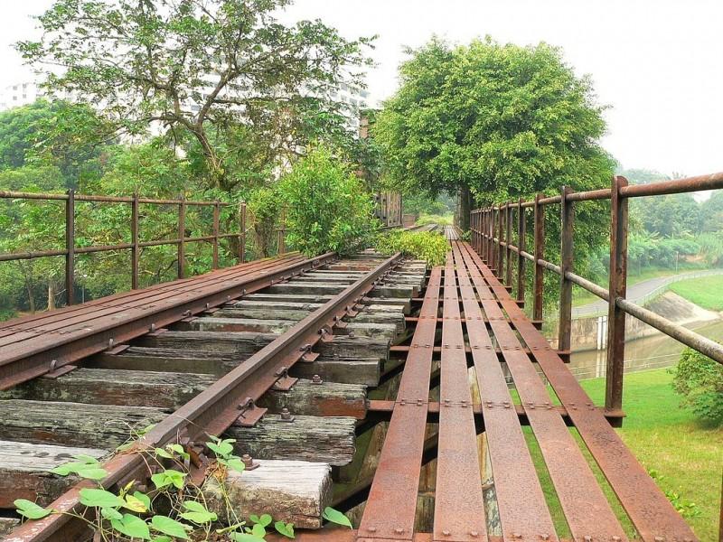 Jurong railway line - bridge