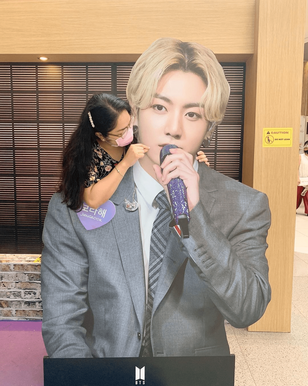 Girl with Jungkook cutout