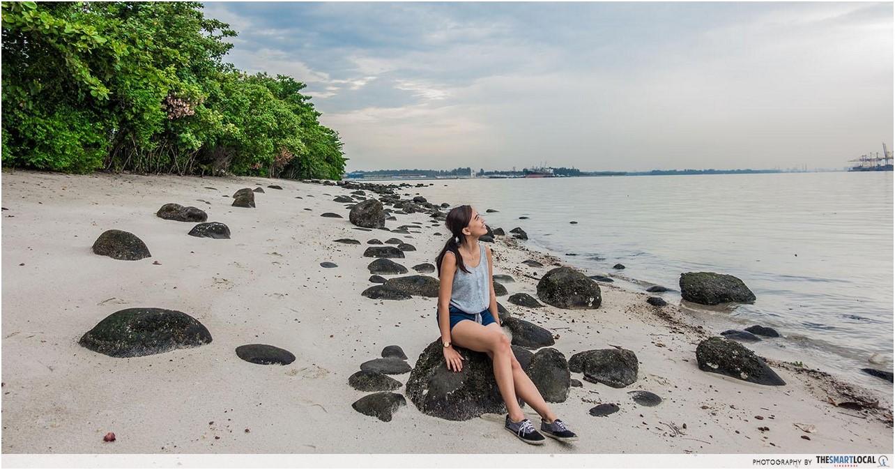 Girl on Punggol Beach