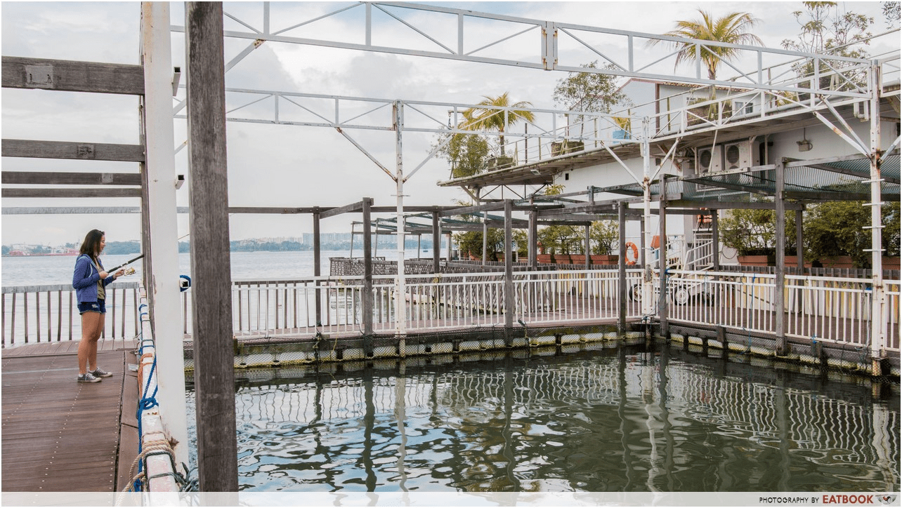 Smith Marine Floating Restaurant's sure catch pond