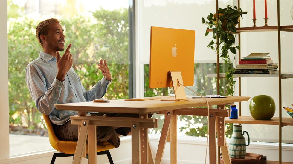 apple april 2021 - new iMac 2021 in yellow