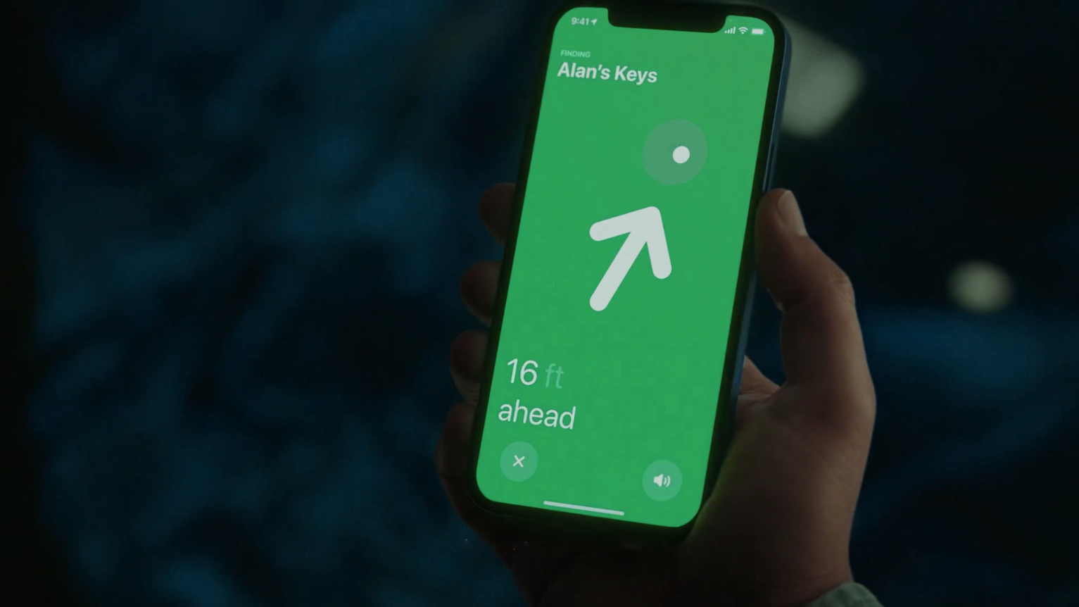 apple 2021 april products - airtags iphone interface find my app