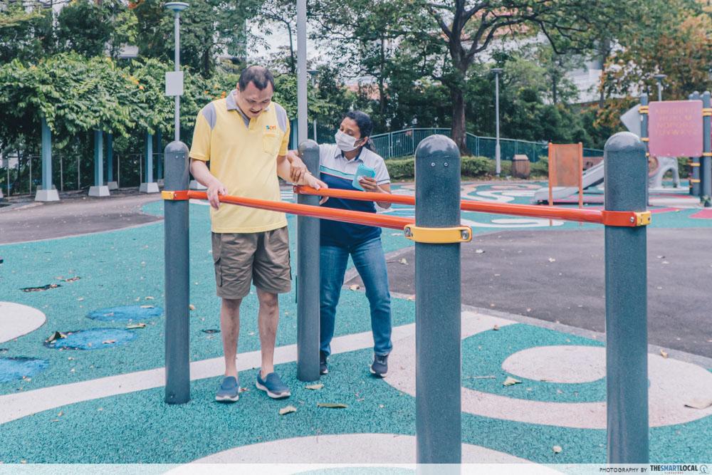 caregiving in singapore outdoor playground