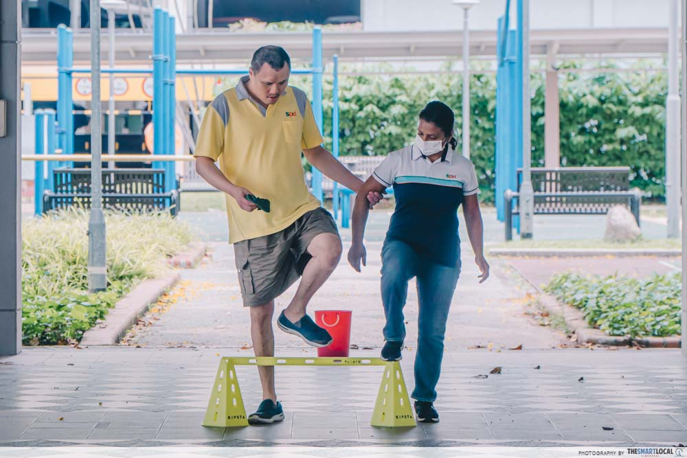 adult with autism obstacle course