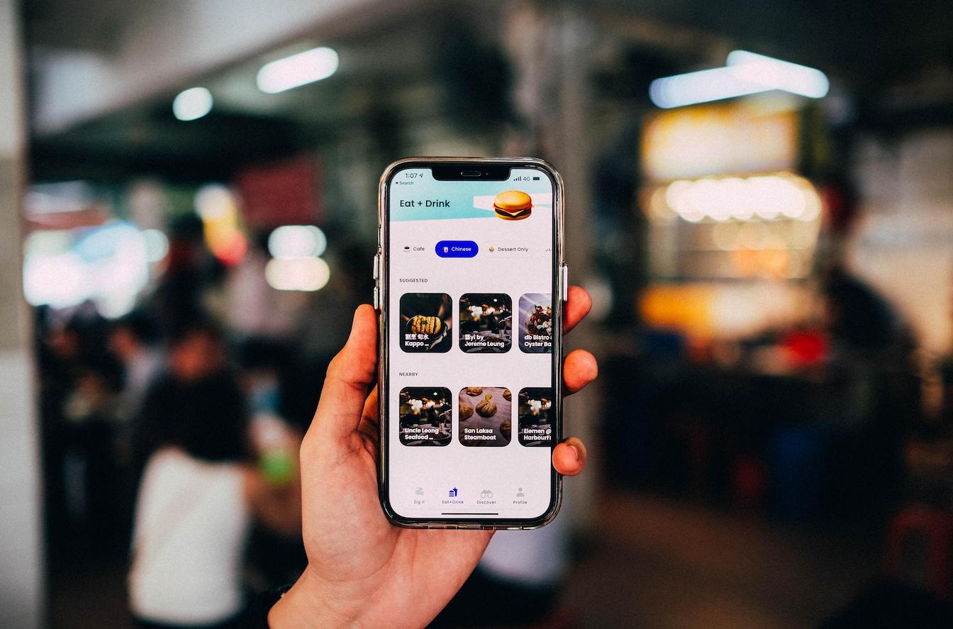 zig app - mobile app interface