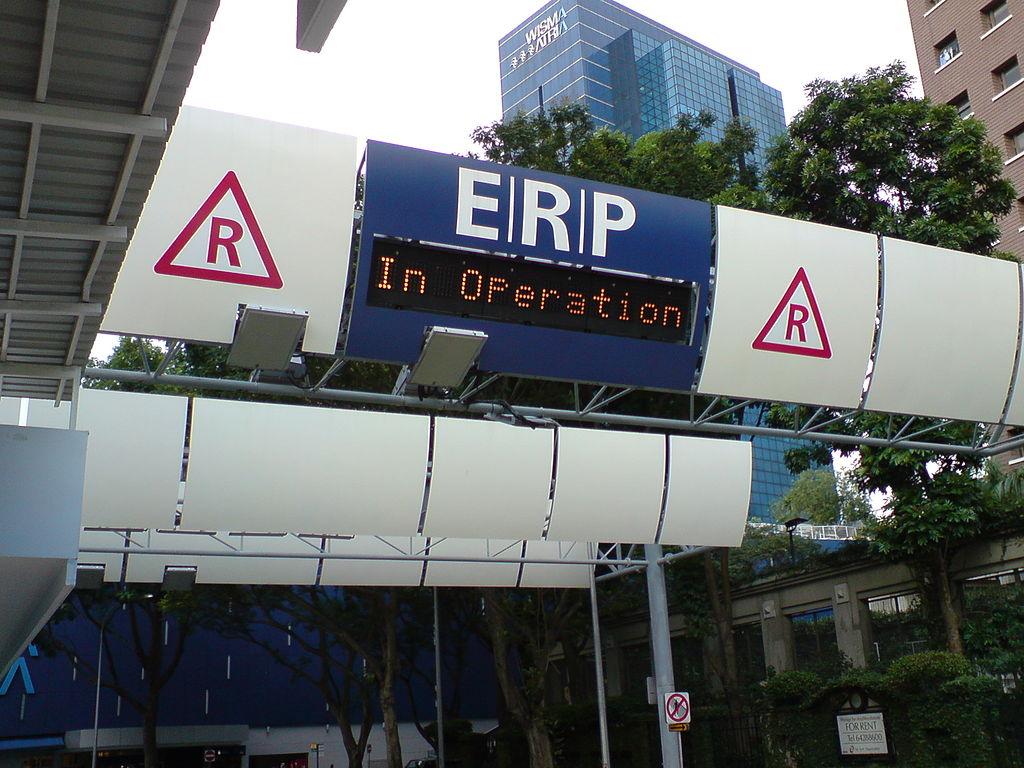 ERP car gantry in singapore