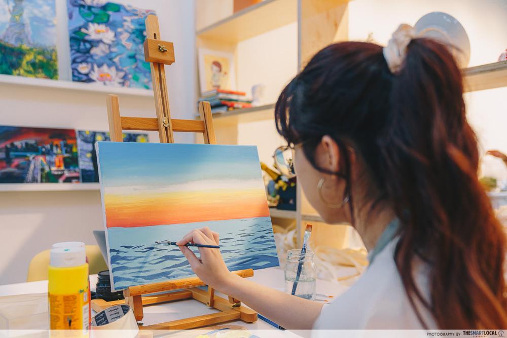 girl acrylic painting