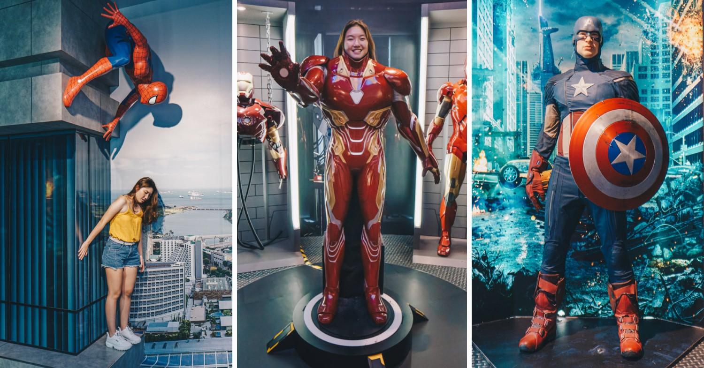 Madame Tussauds Singapore - Spiderman, Iron Man, Captain America