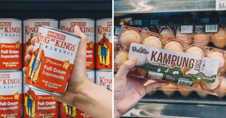 U Stars - Marigold King of Kings evaporated milk, Dasoon Kampung eggs