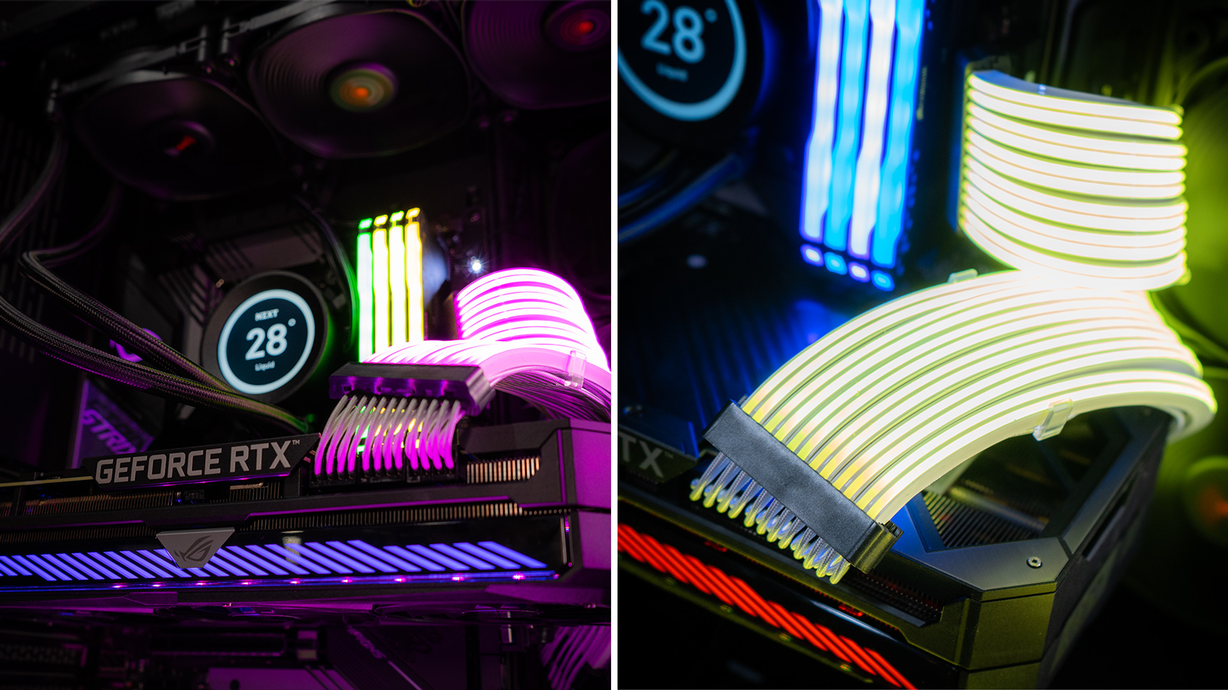 aftershock custom pc build - rgb cable shielding on Aftershock's Ultracore build