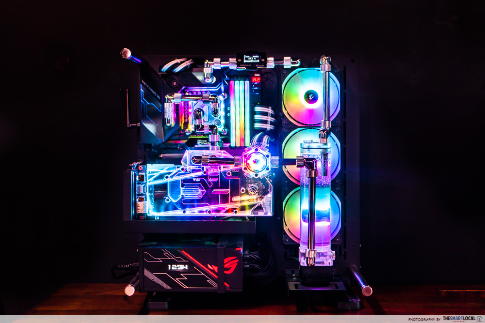 aftershock custom pc build - custom loop pc