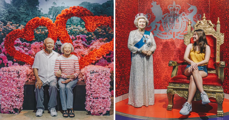 Madame Tussauds Singapore - Lee Kuan Yew & Queen Elizabeth II
