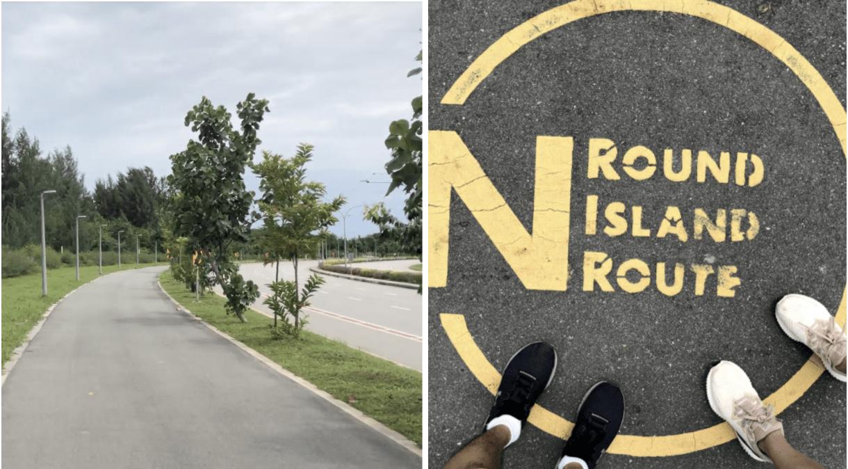 150km singapore walking trail - tanah merah coastal road
