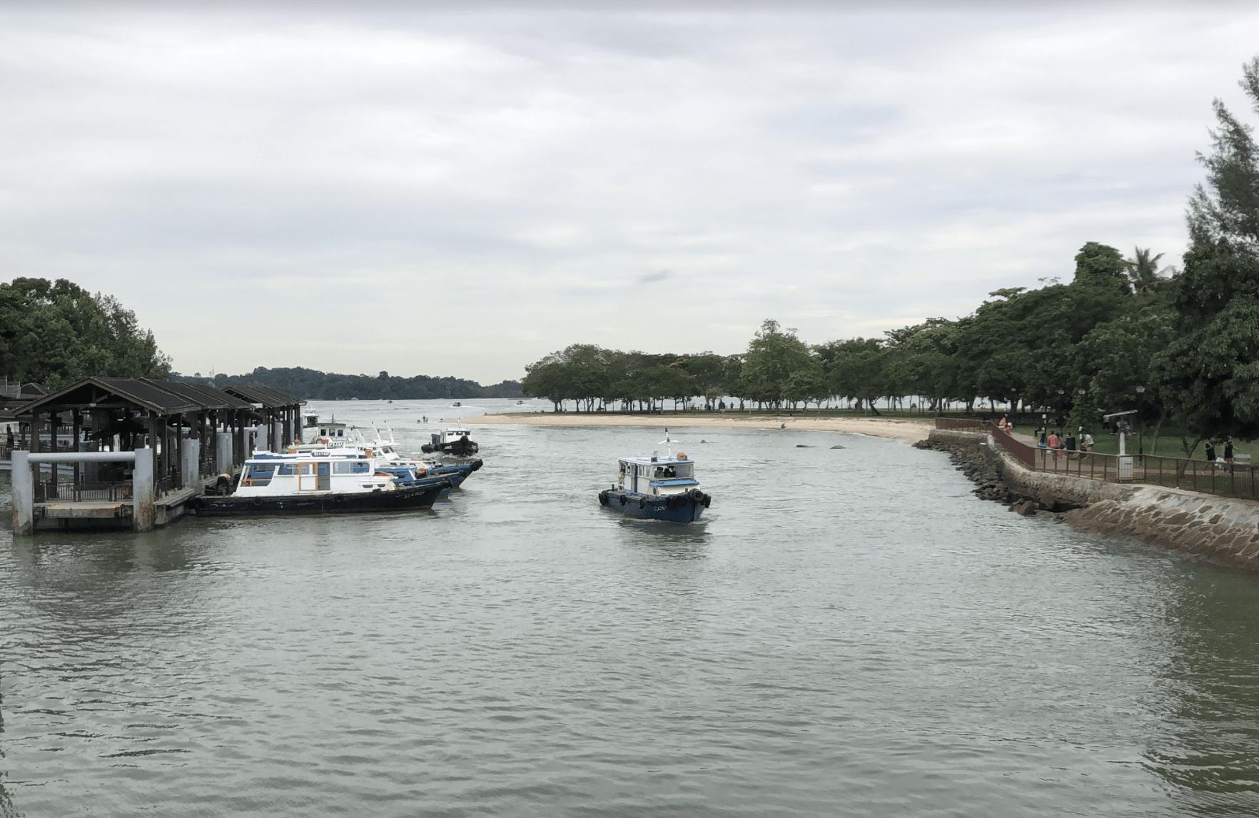 150km singapore walking trail - changi jetty
