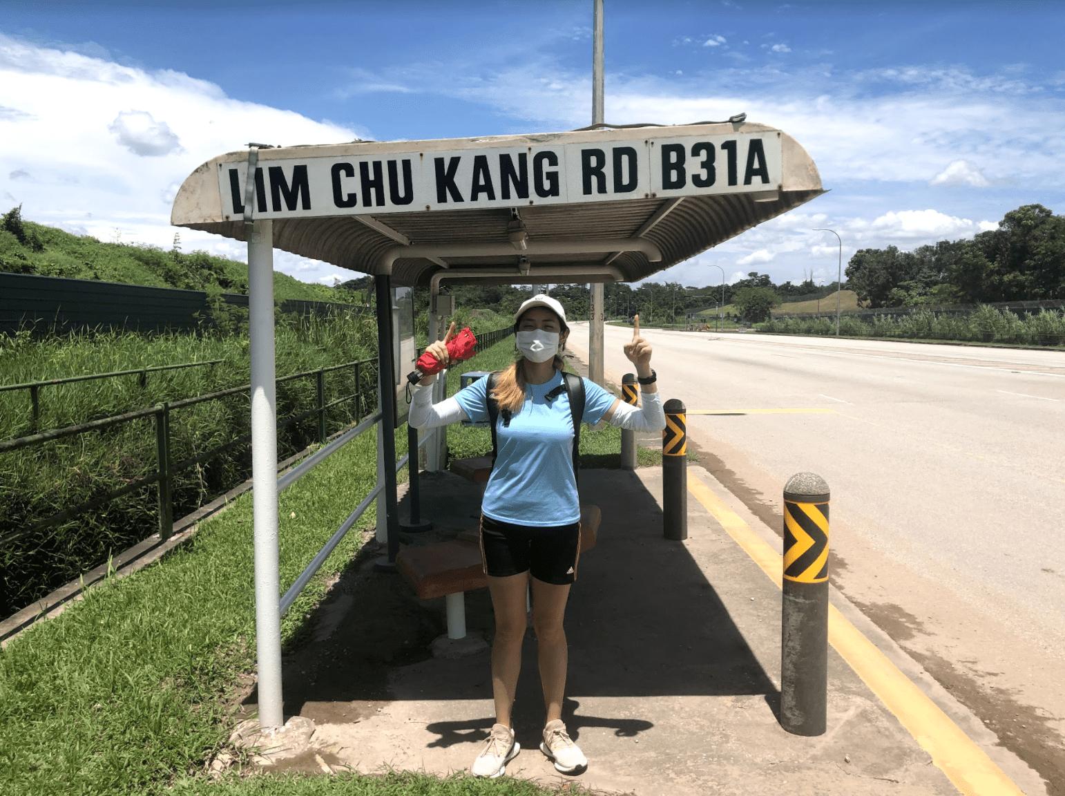 150km singapore walking trail - lim chu kang