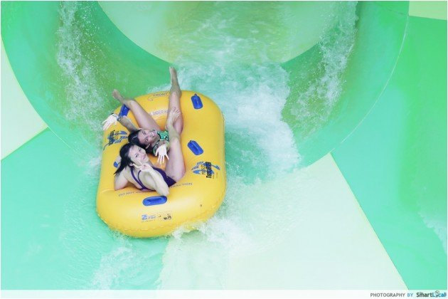 Adventure Cove Waterpark - Spiral Washout
