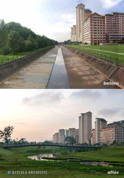 canal at Bishan-Ang mo kio Park