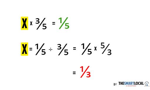 2019 psle question explanation fractions 3