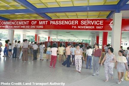 toa payoh mrt station when it first opened