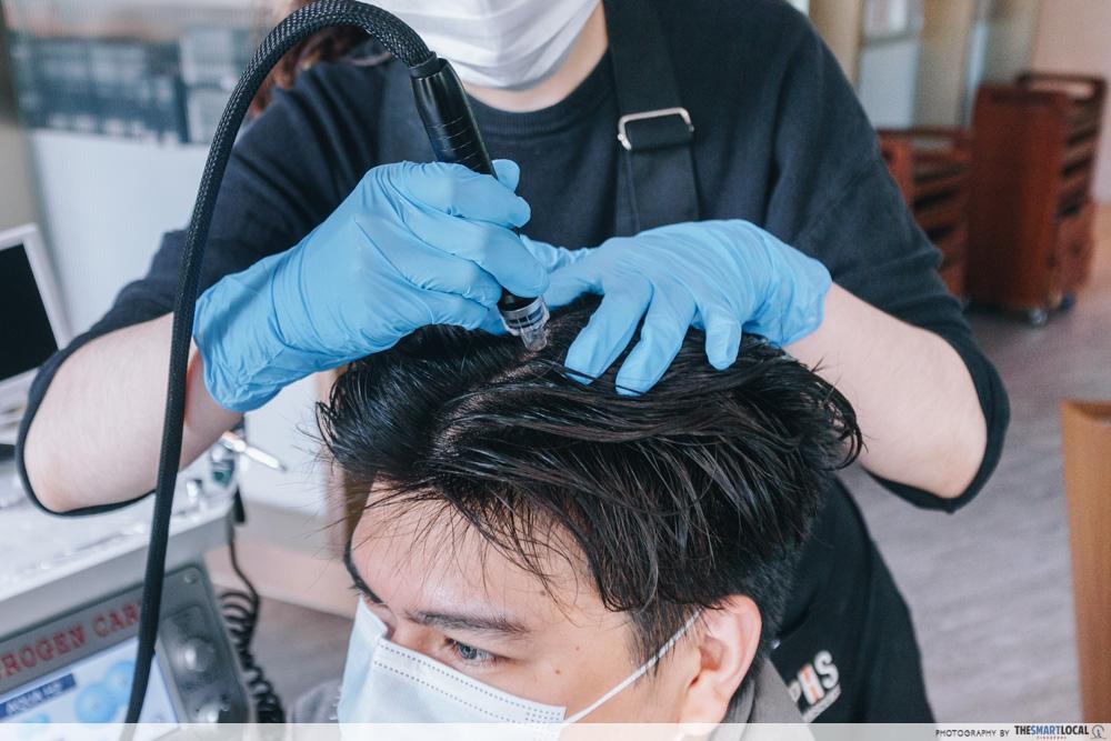 PHS Hairscience dandruff treatment - Aqua Peel Suction