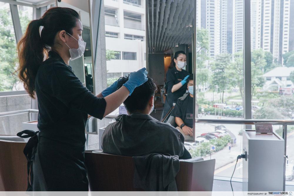 PHS Hairscience salon - Wheelock Place Singapore