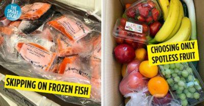 supermarket fish and fruit