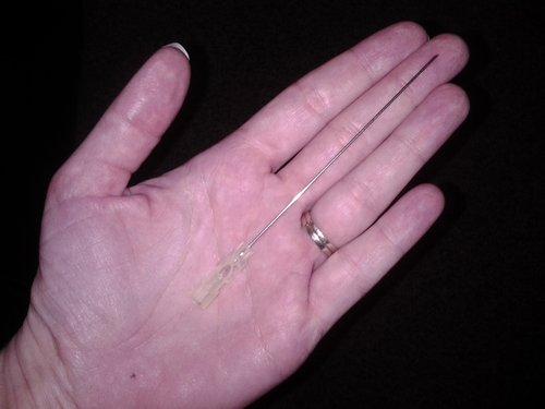 Epidural needle length