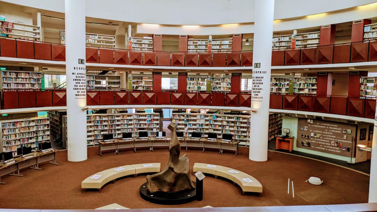 coolest schools in Singapore - Raffles Institution Hullett Memorial Library