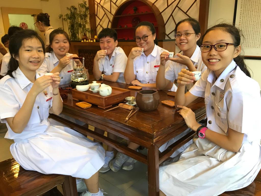 coolest schools in singapore - tea appreciation room in chung cheng high school (main)