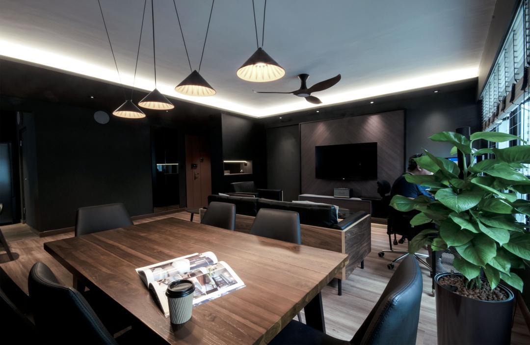 dark industrial design lights