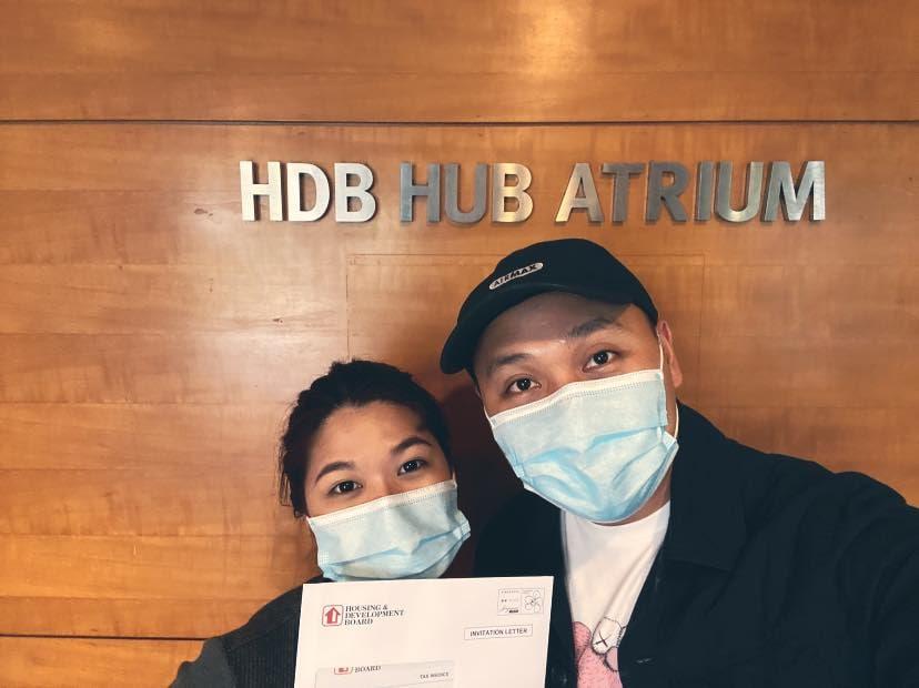 couple at HDB hub atrium