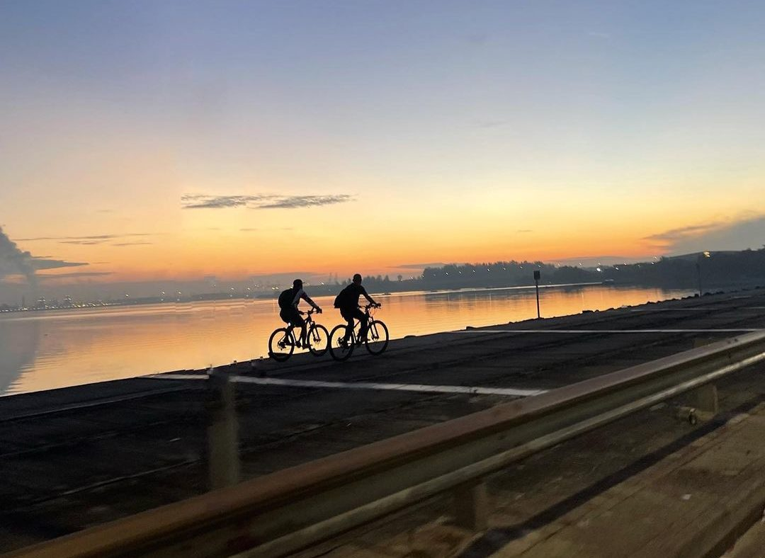 Yishun Dam - cycling