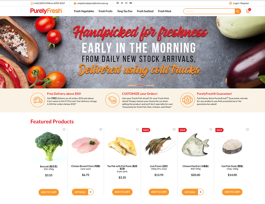 Purely Fresh Online Grocery Store