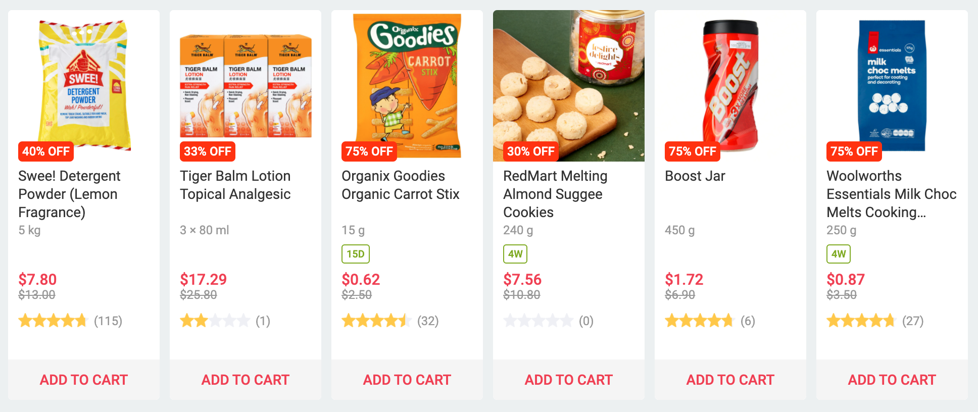 Redmart Online Grocery Stores